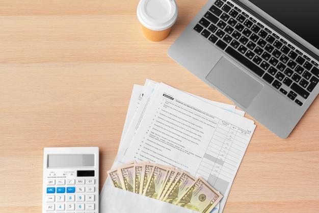 Documentos de negócios gráficos financeiros para o sucesso do trabalho Foto Premium
