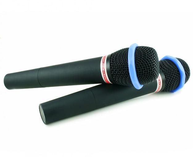 Dois microfones sem fio Foto Premium