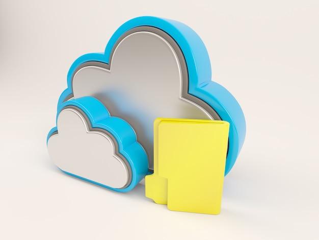Dois uma pasta amarela nuvens e Foto gratuita