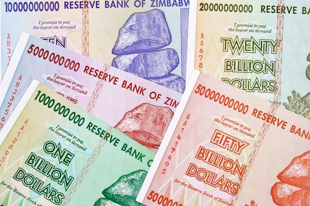 Dólares zimbabueanos Foto Premium