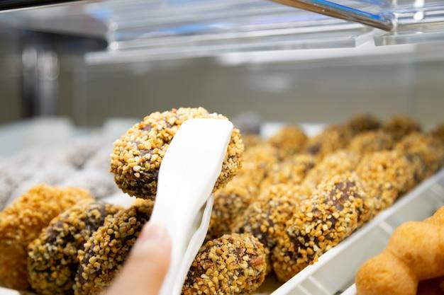 Donut de amendoim Foto Premium