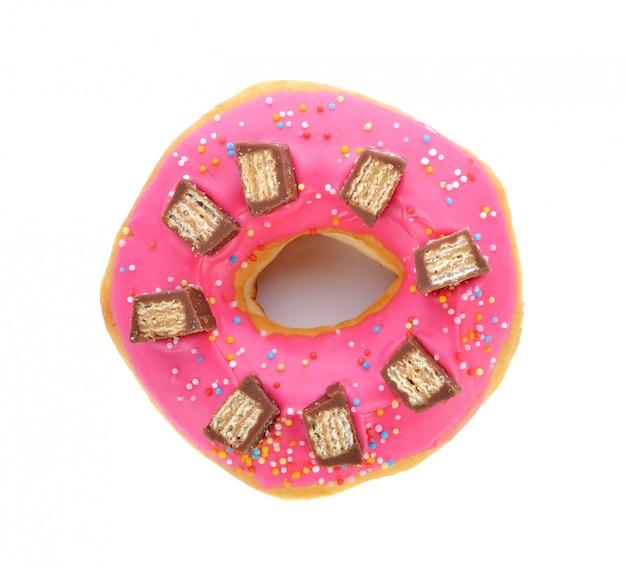 Donut isolado no branco Foto Premium