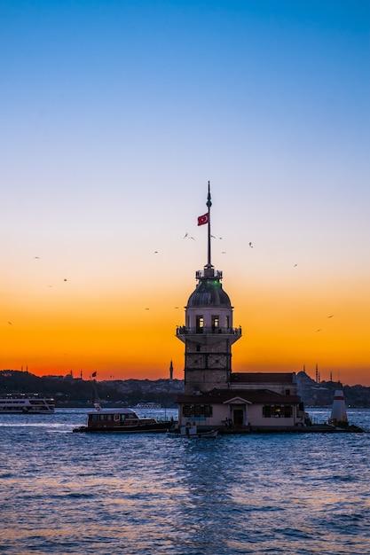 Donzela, torre, istambul Foto Premium