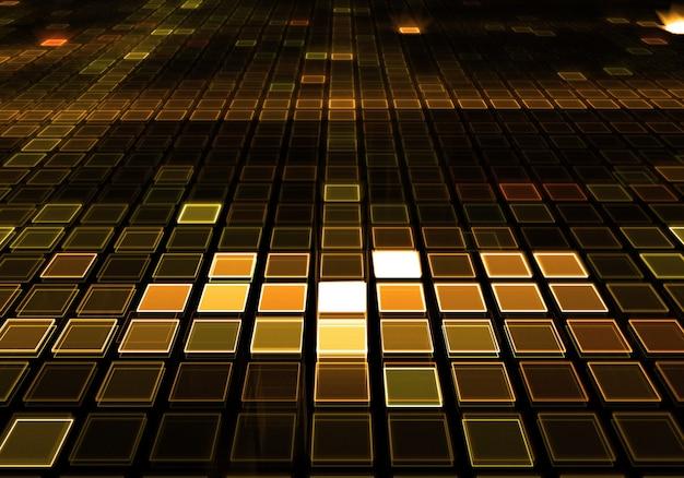 Dourado dj de música pista de dança fundo Foto gratuita