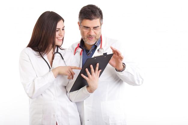 Doutor, examina, raios x Foto Premium