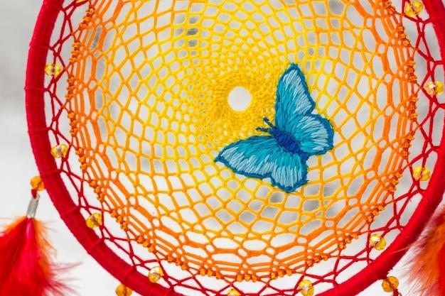 Dreamcatcher artesanal com penas Foto Premium