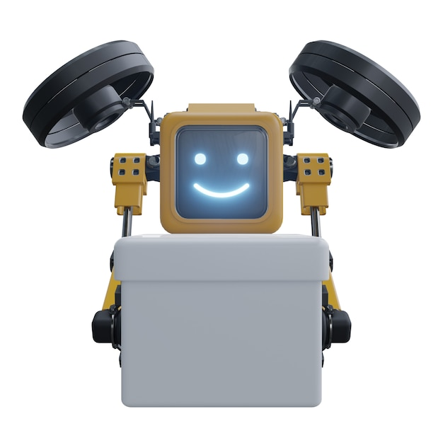 Drone robô fornece suprimentos. drone de robô de transporte. Foto Premium