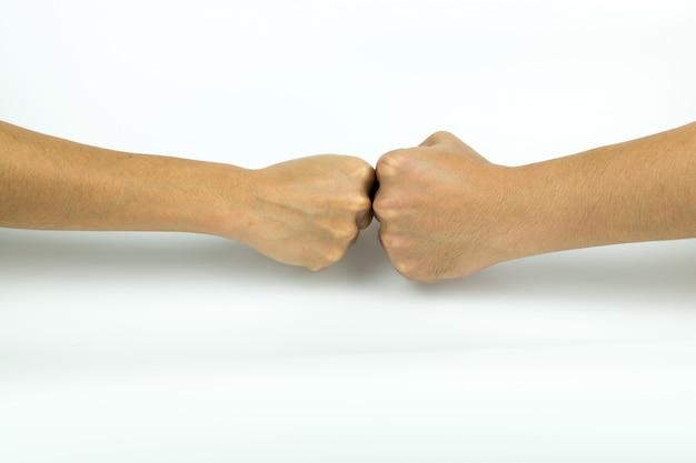 Duas mãos batendo Foto Premium