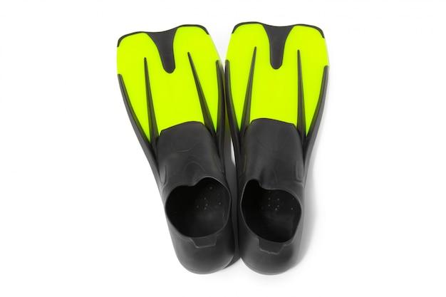 Duas nadadeiras para mergulho Foto Premium