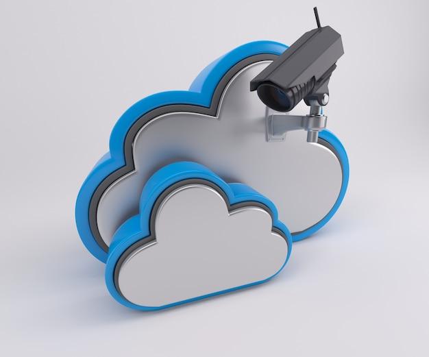 Duas nuvens com uma câmera Foto gratuita