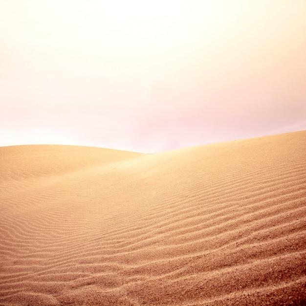 Dunas de areia e céu no deserto. Foto gratuita