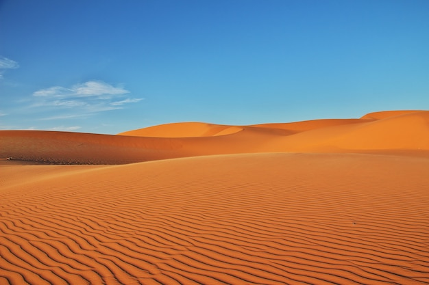 Dunas no deserto do saara, no coração da áfrica Foto Premium