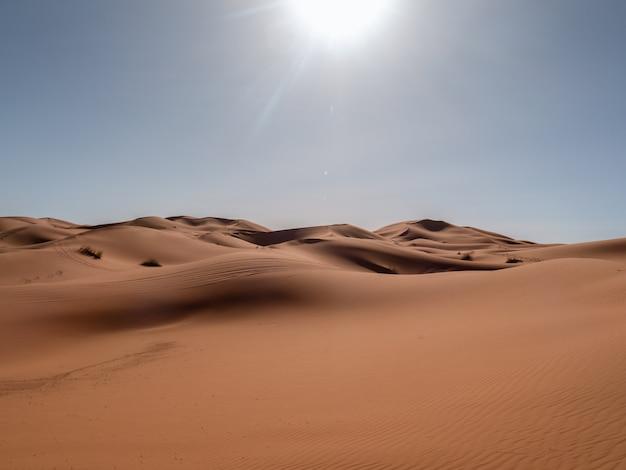 Dune no deserto do saara Foto Premium