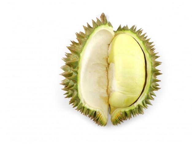 Durian isolado no fundo branco Foto Premium