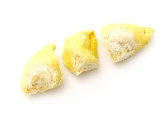Durian rei das frutas no fundo branco. Foto gratuita
