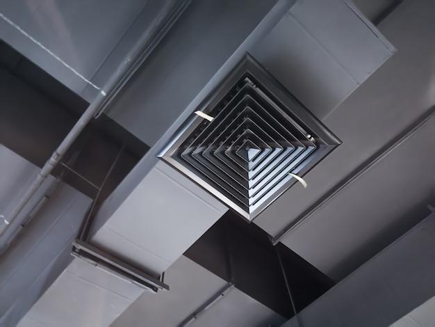 Duto de ar interior de construção Foto Premium