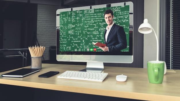 E-learning e educação online para o conceito de estudante e universidade. Foto Premium