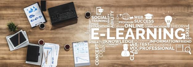E-learning para estudantes e universidades Foto Premium