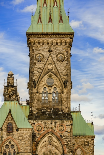 East block do parliament hill em ottawa, canadá Foto Premium