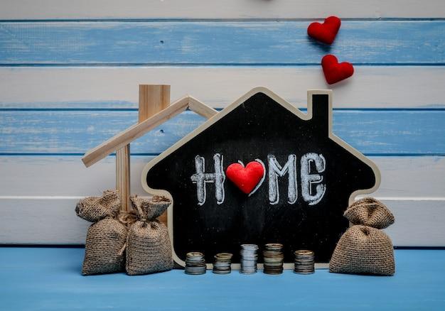 Economias de venda de imóveis, empréstimos para habitação. estratégia de plano de hipoteca residencial de habitação. Foto Premium