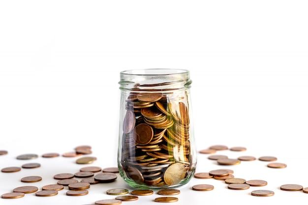 Economize dinheiro e contas bancárias para finanças Foto Premium
