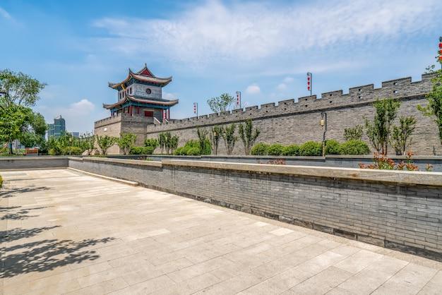Edifício da cidade antiga de qingdao jimo Foto Premium