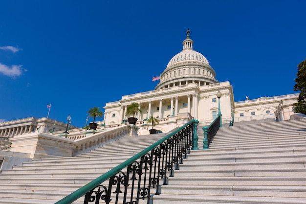 Edifício do capitólio congresso de washington dc eua Foto Premium