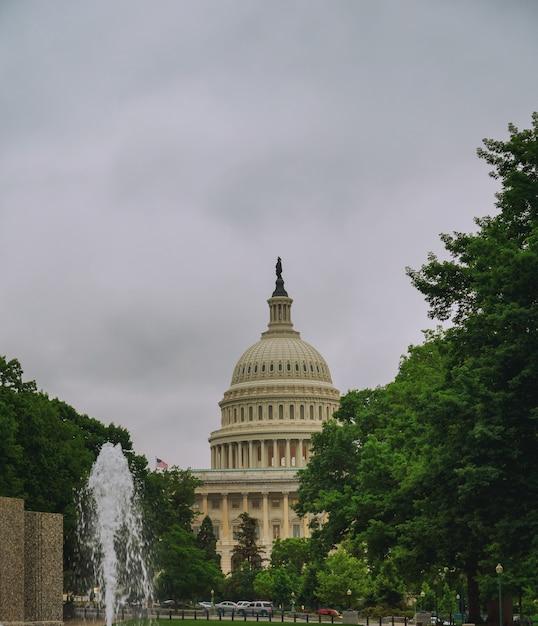 Edifício do capitólio do estados unidos antes do por do sol, washington dc, eua. Foto Premium