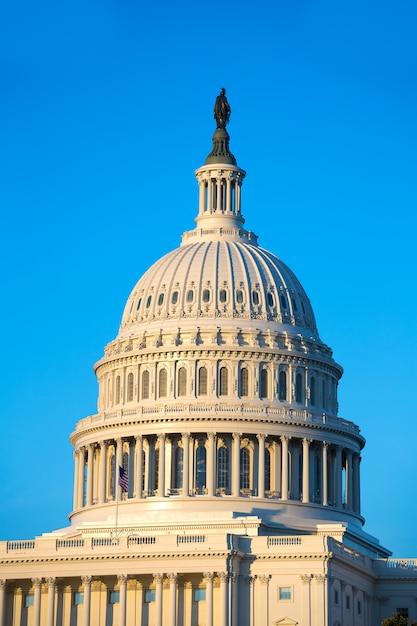 Edifício do capitólio dome washington dc congresso dos eua Foto Premium