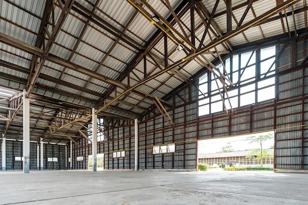 Edifício do hangar Foto Premium