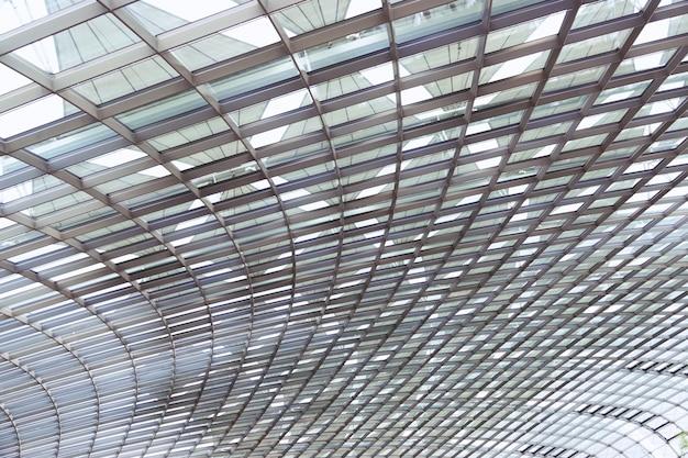 Edifício moderno abstrato em cingapura close-up Foto Premium