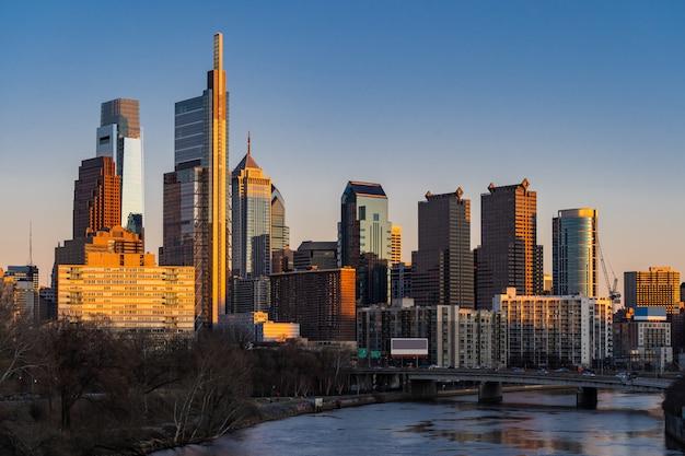 Edifício philadelphia skylines Foto Premium