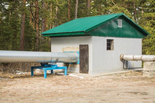 Edifício tecnológico de distribuição para o gasoduto Foto Premium