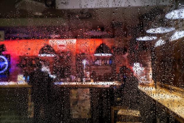 Efeito de chuva no fundo da barra Foto gratuita