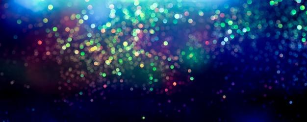 Efeito de iluminação de bokeh brilho colorfull turva abstrato Foto Premium