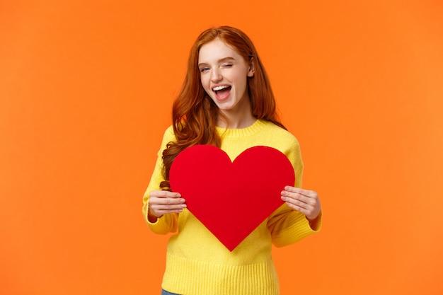 Ei linda, você tem meu coração. Foto Premium