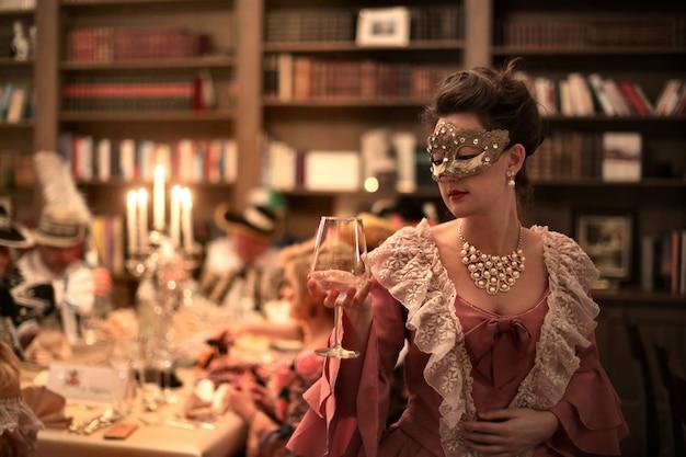 Elegante festa de máscaras Foto Premium