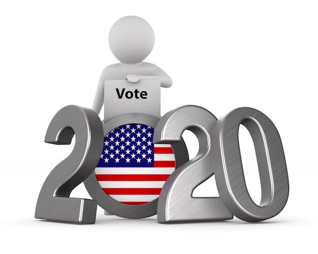 Eleições americanas em branco Foto Premium