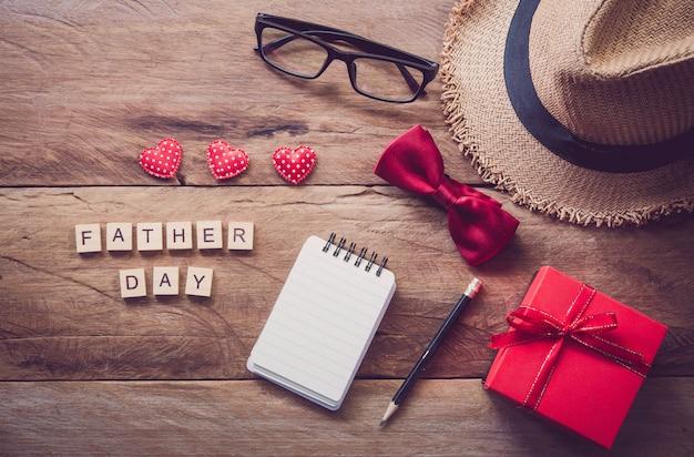Elementos do dia dos pais Foto Premium