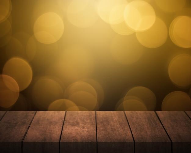 Em uma mesa de madeira branca com um fundo de bokeh Foto Premium