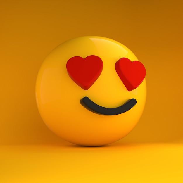 Emoji 3d apaixonado Foto Premium