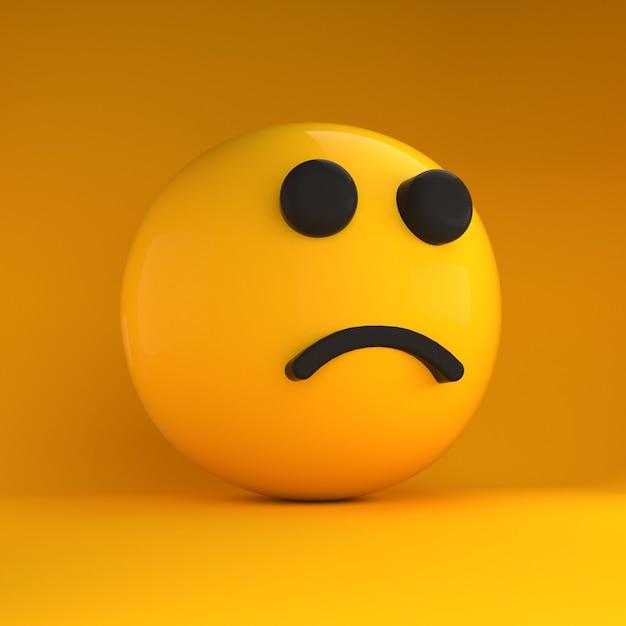 Emoji 3d triste Foto Premium