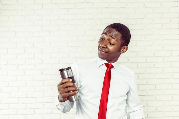 Empresário afro-americano bonito Foto Premium