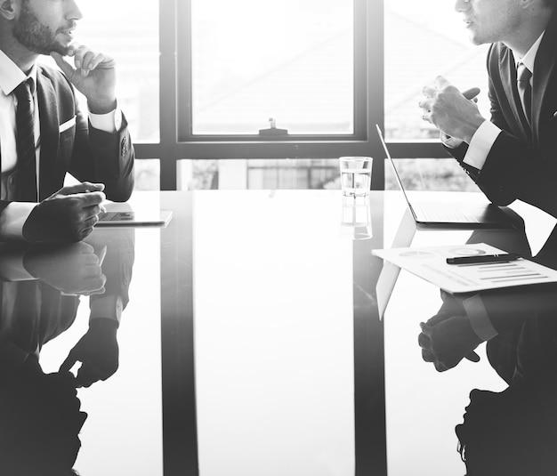 Empresário communication company meeting concept Foto gratuita