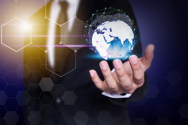 Empresário de tecnologia de rede e comunicação Foto Premium