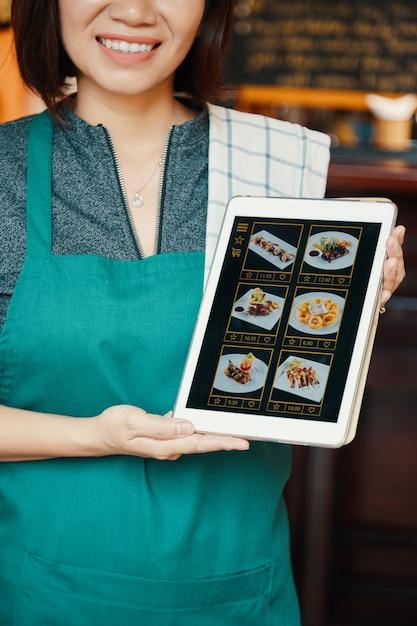 Encomenda de comida online Foto gratuita