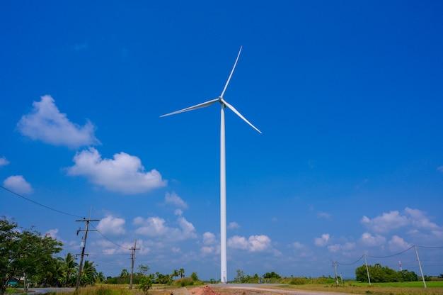 Energia de turbina eólica tailândia Foto Premium