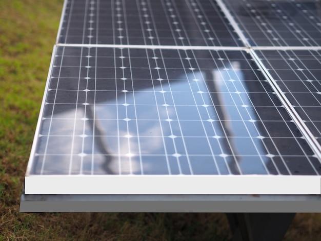Energia solar painéis eco power industrial para energias renováveis Foto Premium