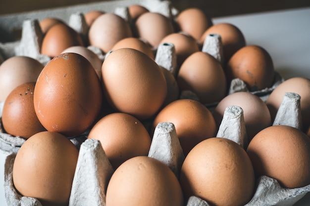 Engradado de ovos Foto gratuita