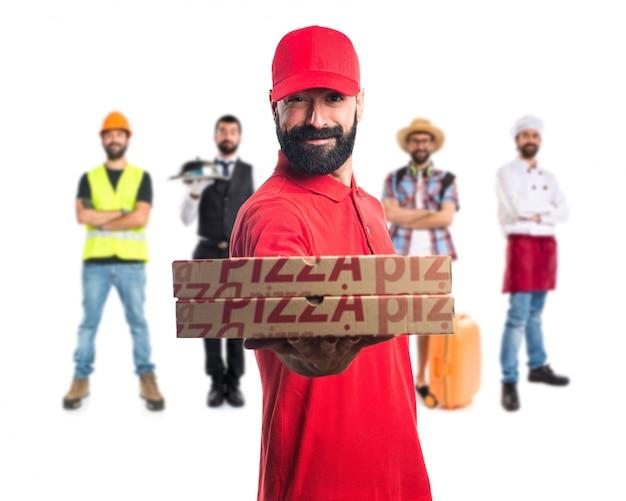 Entrega de pizza Foto Premium